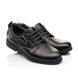 Детские туфли Woopy Orthopedic черные для мальчиков натуральная кожа размер - (3131) Фото 1