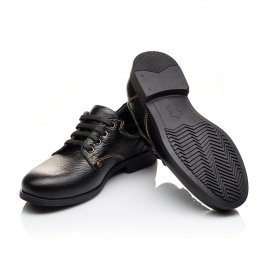 Детские туфли Woopy Orthopedic черные для мальчиков натуральная кожа размер - (3131) Фото 2