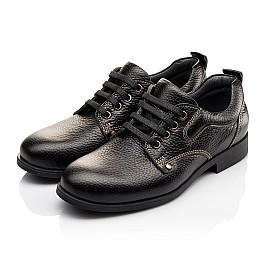 Детские туфли Woopy Orthopedic черные для мальчиков натуральная кожа размер - (3131) Фото 3