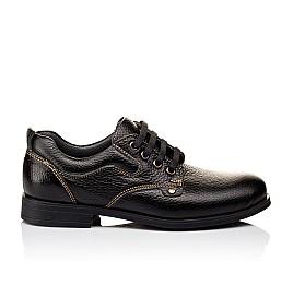 Детские туфли Woopy Orthopedic черные для мальчиков натуральная кожа размер - (3131) Фото 4
