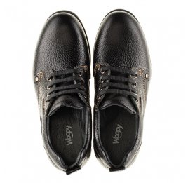 Детские туфли Woopy Orthopedic черные для мальчиков натуральная кожа размер - (3131) Фото 5