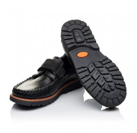 Детские туфли Woopy Orthopedic черные для мальчиков натуральная кожа и нубук размер - (3134) Фото 2