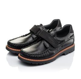 Детские туфли Woopy Orthopedic черные для мальчиков натуральная кожа и нубук размер - (3134) Фото 3