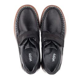 Детские туфли Woopy Orthopedic черные для мальчиков натуральная кожа и нубук размер - (3134) Фото 5