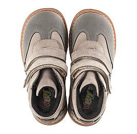 Детские демисезонные ботинки Woopy Orthopedic серые для мальчиков натуральный нубук и кожа размер 20-21 (3140) Фото 5