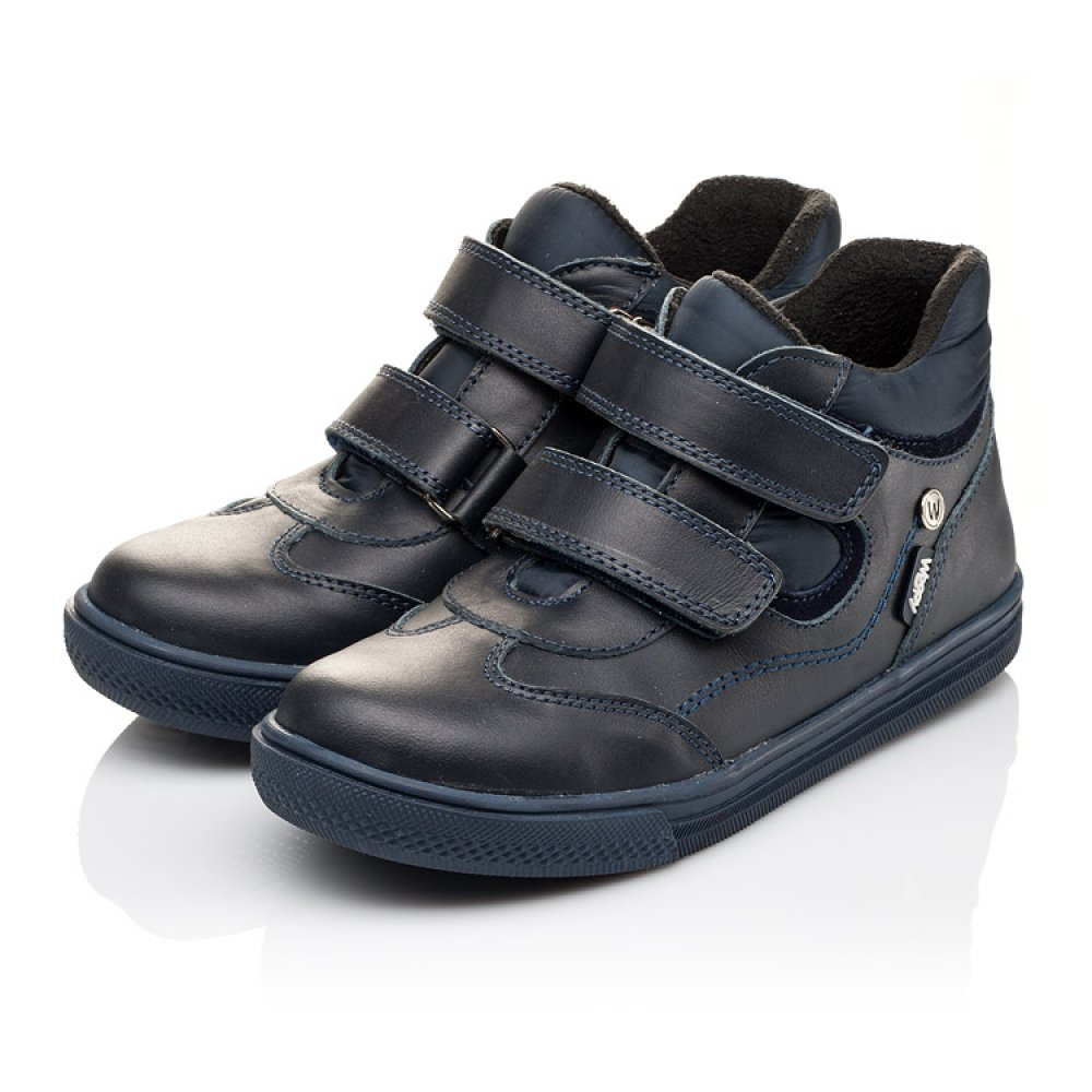 Детские демисезонные ботинки Woopy Orthopedic синие для мальчиков натуральная кожа размер 24-36 (3143) Фото 3