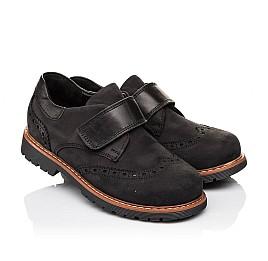 Детские туфли Woopy Orthopedic черные для мальчиков натуральный нубук размер - (3148) Фото 1
