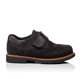 Детские туфли Woopy Orthopedic черные для мальчиков натуральный нубук размер - (3148) Фото 3