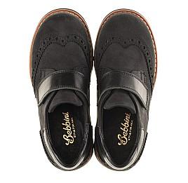 Детские туфли Woopy Orthopedic черные для мальчиков натуральный нубук размер - (3148) Фото 4