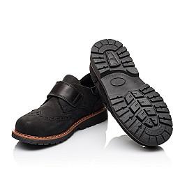 Детские туфли Woopy Orthopedic черные для мальчиков натуральный нубук размер - (3148) Фото 5