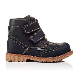 Детские высокие демисезонные ботинки Woopy Orthopedic синий для мальчиков натуральный нубук размер 20-20 (3153) Фото 4