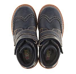 Детские высокие демисезонные ботинки Woopy Orthopedic синий для мальчиков натуральный нубук размер 20-20 (3153) Фото 5