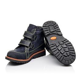 Детские демисезонные ботинки Woopy Orthopedic темно-синие для мальчиков натуральный нубук размер 31-31 (3172) Фото 2