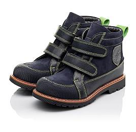 Детские демисезонные ботинки Woopy Orthopedic темно-синие для мальчиков натуральный нубук размер 31-31 (3172) Фото 3