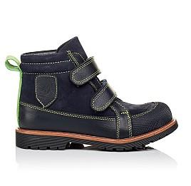Детские демисезонные ботинки Woopy Orthopedic темно-синие для мальчиков натуральный нубук размер 31-31 (3172) Фото 4