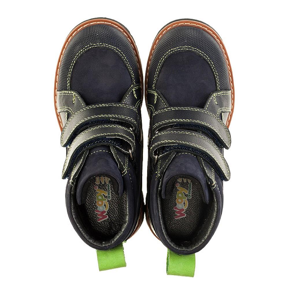 Детские демисезонные ботинки Woopy Orthopedic темно-синие для мальчиков натуральный нубук размер 26-36 (3172) Фото 5