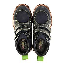 Детские демисезонные ботинки Woopy Orthopedic темно-синие для мальчиков натуральный нубук размер 31-31 (3172) Фото 5