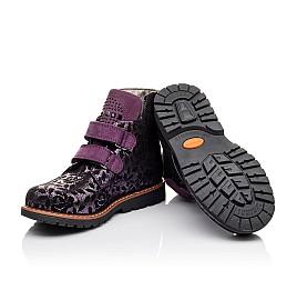 Детские демисезонные ботинки Woopy Orthopedic фиолетовые для девочек натуральный нубук размер 21-21 (3173) Фото 2