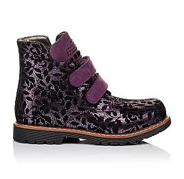 Детские демисезонные ботинки Woopy Orthopedic фиолетовые для девочек натуральный нубук размер 21-21 (3173) Фото 4