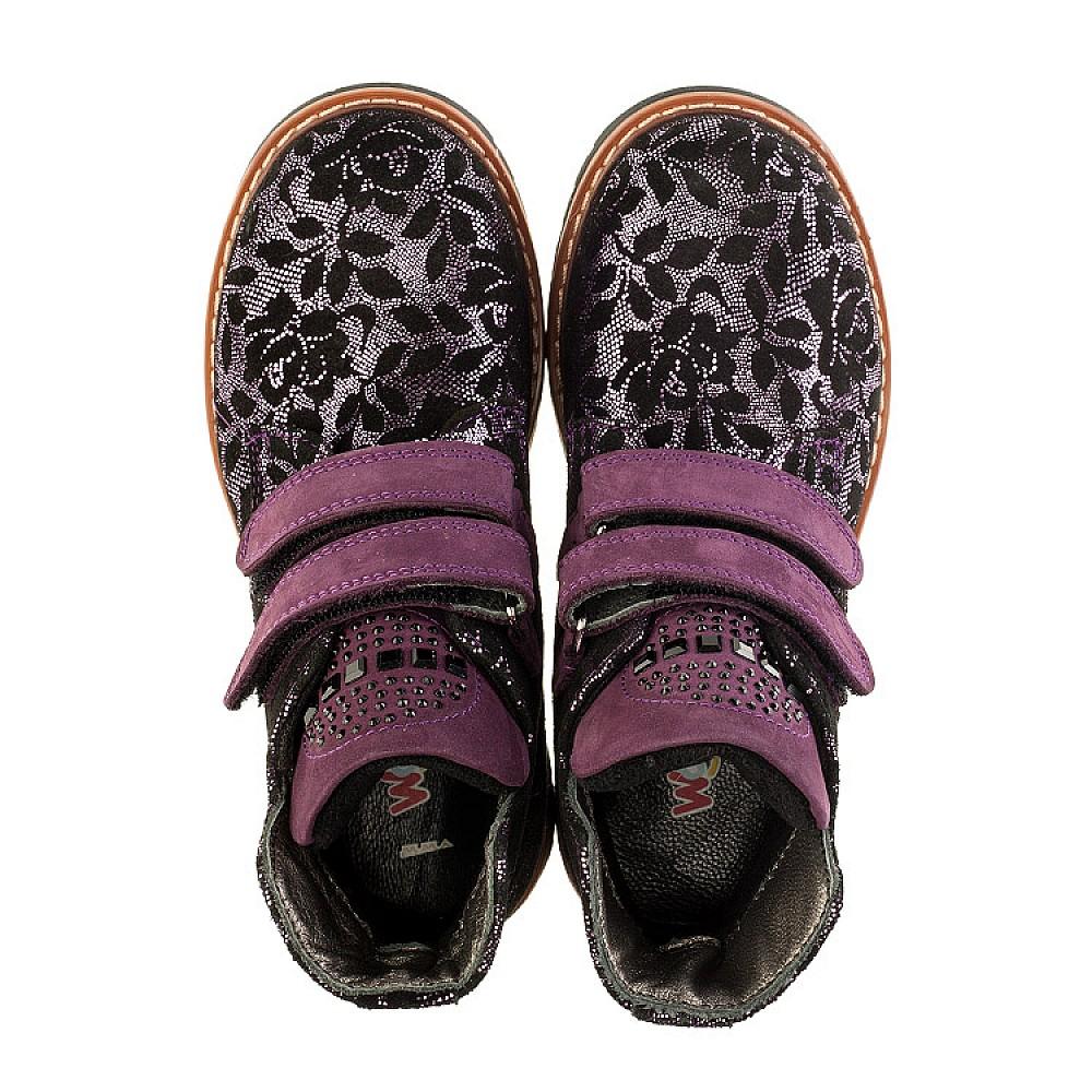 Детские демисезонные ботинки Woopy Orthopedic фиолетовые для девочек натуральный нубук размер 21-33 (3173) Фото 5