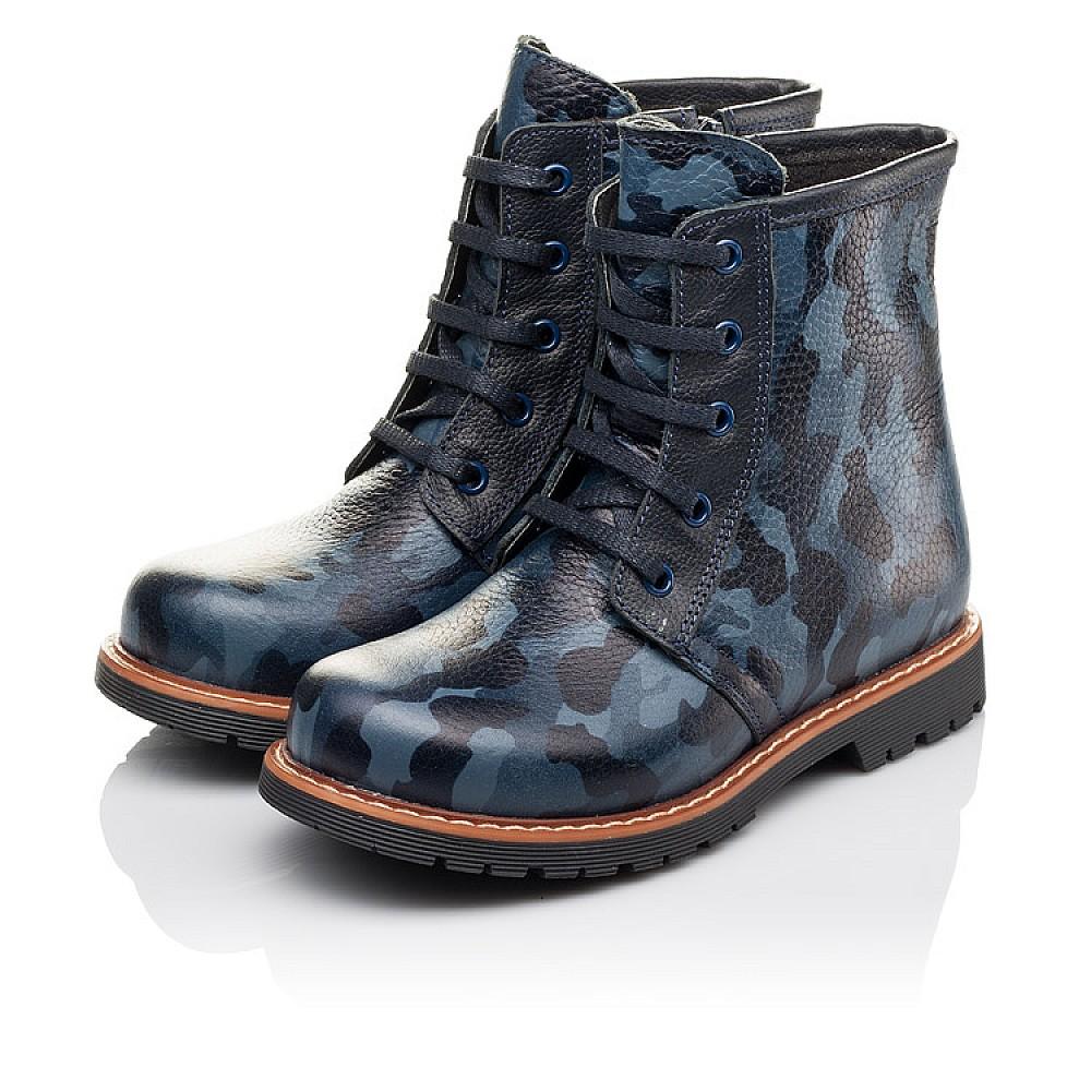 Детские демисезонные ботинки Woopy Orthopedic синие для девочек натуральная кожа размер 23-36 (3176) Фото 3