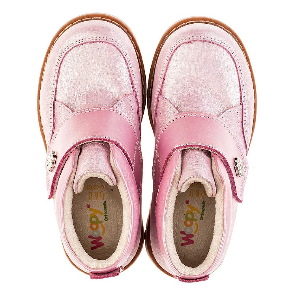 Детские демисезонные ботинки Woopy Orthopedic розовые для девочек натуральная кожа размер 18-30 (3182) Фото 5