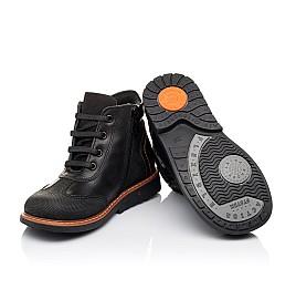 Детские демисезонные ботинки Woopy Orthopedic черные для мальчиков натуральная кожа размер 24-33 (3193) Фото 2