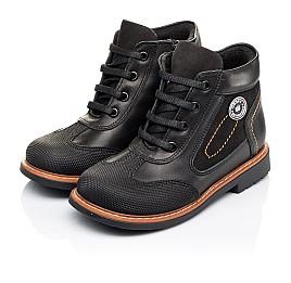 Детские демисезонные ботинки Woopy Orthopedic черные для мальчиков натуральная кожа размер 24-33 (3193) Фото 3