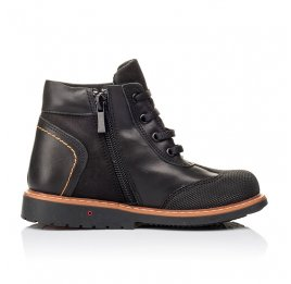 Детские демисезонные ботинки Woopy Orthopedic черные для мальчиков натуральная кожа размер 24-33 (3193) Фото 5