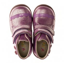 Детские демисезонные ботинки Woopy Orthopedic фиолетовые для девочек натуральная кожа размер 21-23 (3196) Фото 5