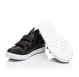 Детские кеды Woopy Orthopedic черные для девочек  натуральная кожа размер 25-25 (3199) Фото 2