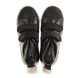 Детские кеды Woopy Orthopedic черные для девочек  натуральная кожа размер 25-25 (3199) Фото 5