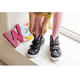Детские кеды Woopy Orthopedic черные для девочек  натуральная кожа размер 25-25 (3199) Фото 6