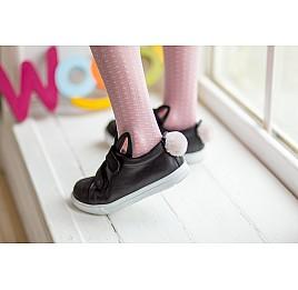 Детские кеды Woopy Orthopedic черные для девочек  натуральная кожа размер 25-25 (3199) Фото 7