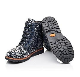 Детские зимние ботинки Woopy Orthopedic темно-синие для девочек  натуральная кожа размер - (3201) Фото 2