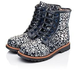 Детские зимние ботинки Woopy Orthopedic темно-синие для девочек  натуральная кожа размер - (3201) Фото 3