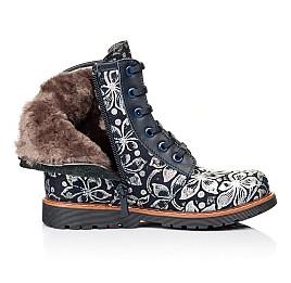 Детские зимние ботинки Woopy Orthopedic темно-синие для девочек  натуральная кожа размер - (3201) Фото 5