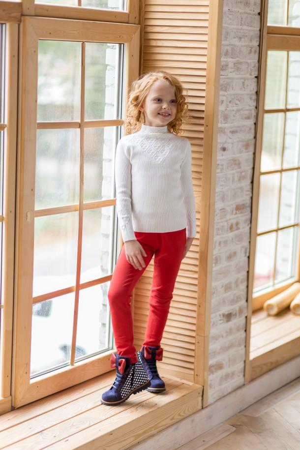 Девочка обута в детские демисезонные ботинки Woopy Orthopedic синие (3202) Фото 2