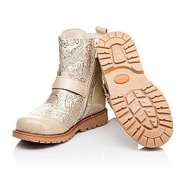 Детские демисезонные ботинки Woopy Orthopedic бежевые для девочек натуральная кожа / лаковая кожа размер 26-28 (3211) Фото 2
