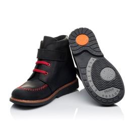 Детские демисезонные ботинки Woopy Orthopedic черные для мальчиков натуральный нубук OIL размер 18-19 (3221) Фото 2