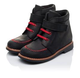 Детские демисезонные ботинки Woopy Orthopedic черные для мальчиков натуральный нубук OIL размер 18-19 (3221) Фото 3