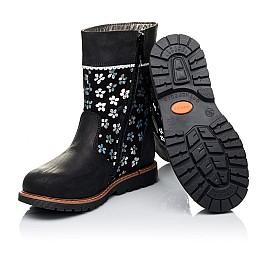 Детские зимние сапожки на меху Woopy Orthopedic черные для девочек натуральный нубук OIL размер - (3225) Фото 2