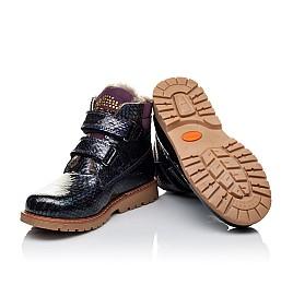 Детские зимние ботинки на меху Woopy Orthopedic фиолетовые для девочек натуральная лаковая кожа размер - (3227) Фото 2