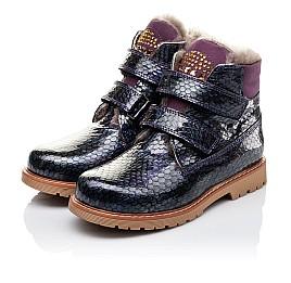 Детские зимние ботинки на меху Woopy Orthopedic фиолетовые для девочек натуральная лаковая кожа размер - (3227) Фото 3