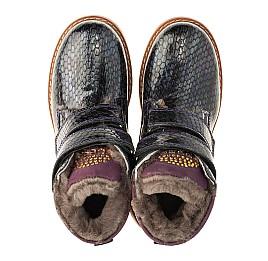 Детские зимние ботинки на меху Woopy Orthopedic фиолетовые для девочек натуральная лаковая кожа размер - (3227) Фото 5