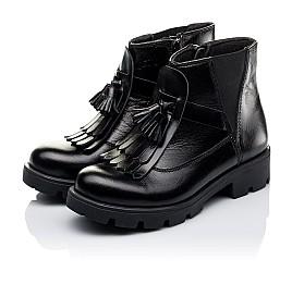 ec988e40c5e8b1 Детские демісезонні черевики Woopy Orthopedic черные для девочек  натуральная кожа размер - (3229) Фото