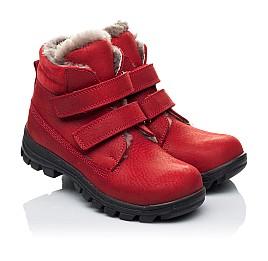 Детские зимние ботинки на меху Woopy Orthopedic красные для девочек натуральный нубук OIL размер - (3233) Фото 1