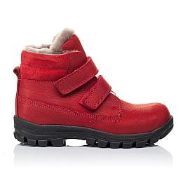 Детские зимние ботинки на меху Woopy Orthopedic красные для девочек натуральный нубук OIL размер - (3233) Фото 4
