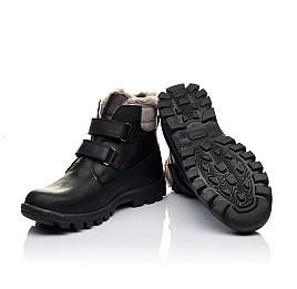 Детские зимние ботинки на меху низкие Woopy Orthopedic черные для мальчиков натуральный нубук OIL размер - (3234) Фото 2