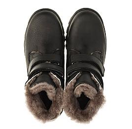 Детские зимние ботинки на меху низкие Woopy Orthopedic черные для мальчиков натуральный нубук OIL размер - (3234) Фото 5